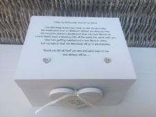 Shabby Personalised Chic Bridesmaid Maid Of Honour Wedding Keepsake Gift Box - 252731972916